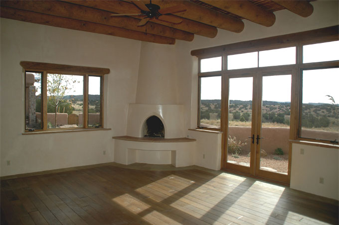 Southwest style new stone home in new mexico quality for New construction fireplace