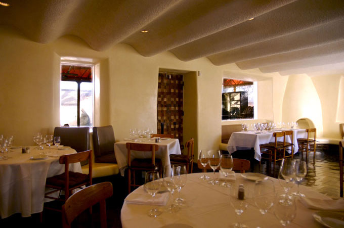The Compound Restaurant - an historic restoration in Santa Fe, NM.
