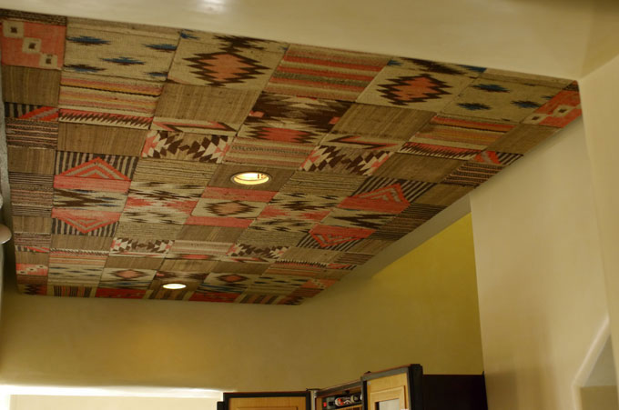 Acoustical ceiling detail in The Compound Restaurant