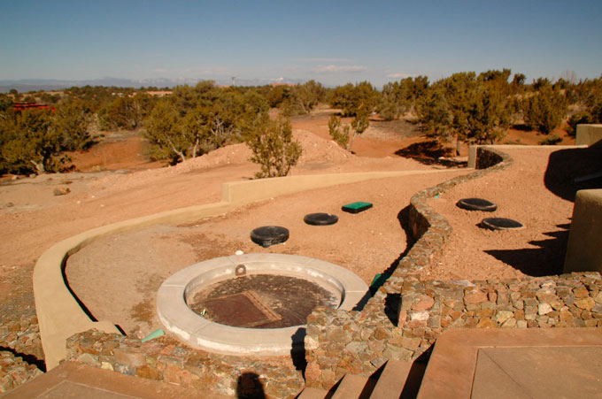 Santa Fe home water harvesting for grey and black water
