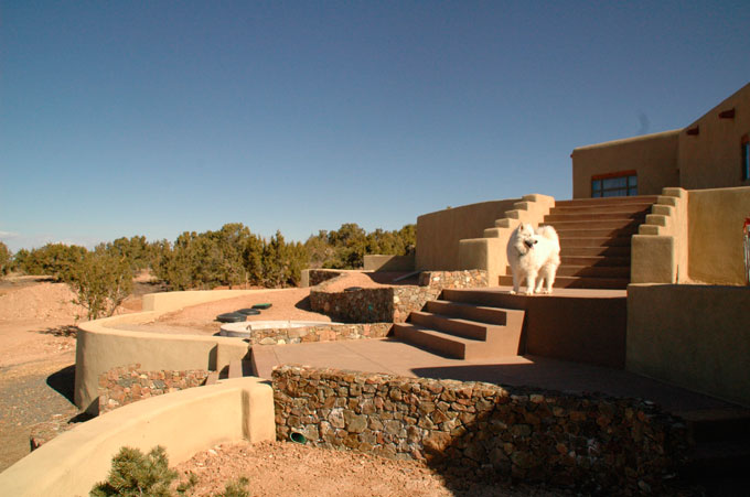 Luxury home design build construction leed gold water for Santa fe style homes