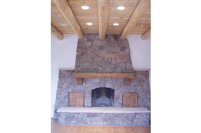 Call to learn about our small project construction services like this beautiful fireplace.