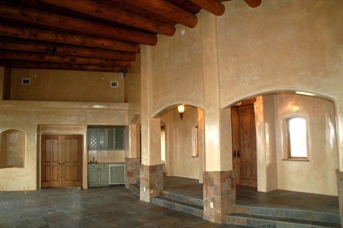 Santa Fe Style Custom Home Construction Albuquerque Nm
